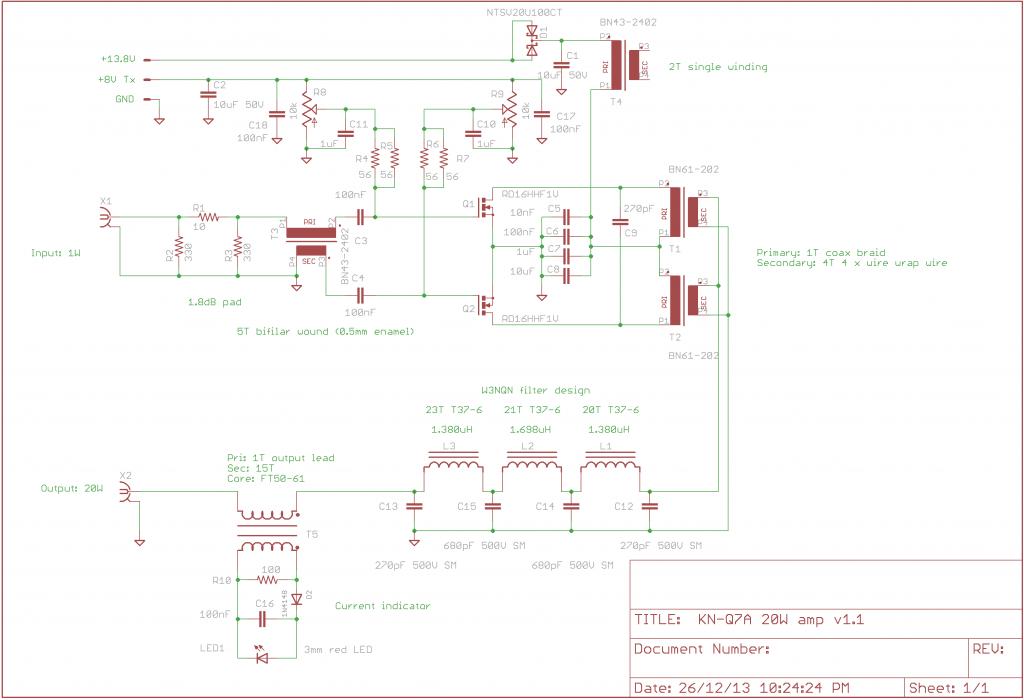 20W amp schematic